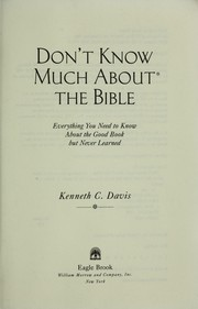 Cover of: Don't Know Much About the Bible