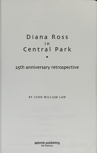 Diana Ross in Central Park by John W. Law