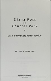 Cover of: Diana Ross in Central Park | John W. Law