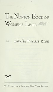 Cover of: The Norton book of women's lives