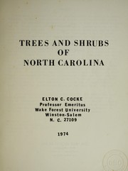 Cover of: Trees and shrubs of North Carolina