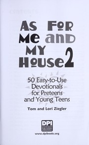 Cover of: As for me & my house