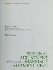 Cover of: Personal adjustment, marriage, and family living