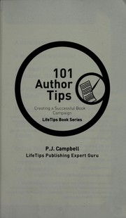 Cover of: 101 author tips