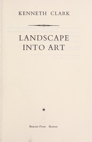 Cover of: Lanscape into art