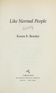 Cover of: Like normal people
