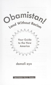 Cover of: Obamistan! land without racism | Damali Ayo