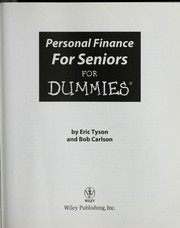 Cover of: Personal finance for seniors for dummies