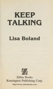 Cover of: Keep Talking (Zebra Books) |