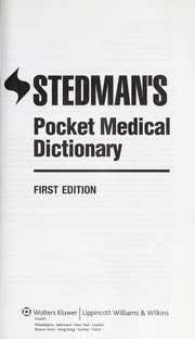 Cover of: Stedman's pocket medical dictionary