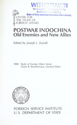Postwar Indochina : old enemies and new allies by
