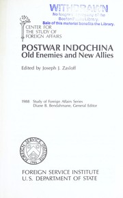 Cover of: Postwar Indochina : old enemies and new allies |