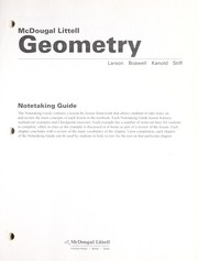 Cover of: Notetaking Guide Geometry