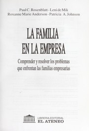 Cover of: La familia en la empresa