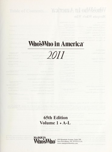 Who's who in America, 2011 by