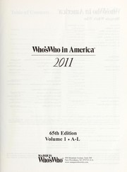 Cover of: Who's who in America, 2011 |