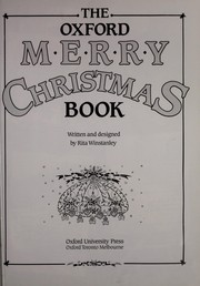 Cover of: The Oxford Merry Christmas Book | Rita Winstanley