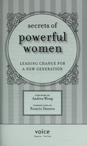 Cover of: Secrets of powerful women |