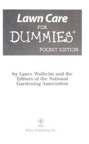 Cover of: Lawn care for dummies, Pocket Edition