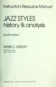 Cover of: Jazz styles