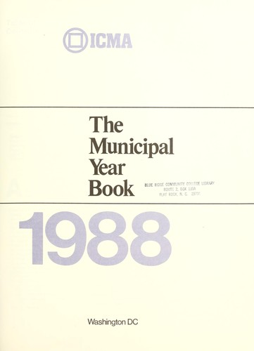 The Municipal year book 1988 by