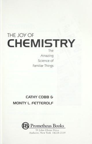 The joy of chemistry by Cathy Cobb