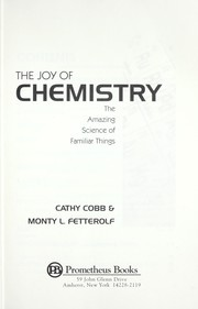 Cover of: The joy of chemistry | Cathy Cobb