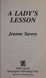 Cover of: A lady's lesson