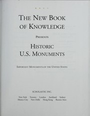 Cover of: The new book of knowledge presents historic U.S. monuments