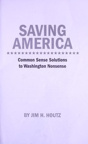 Cover of: Saving America