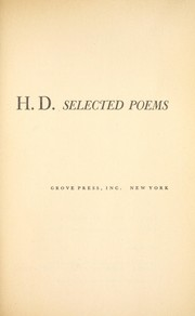 Cover of: Selected Poems of H. D. | H. D.