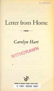 Cover of: Letter from home