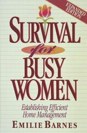 Cover of: Survival for busy women