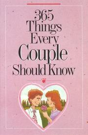 Cover of: 365 Things Every Couple Should Know