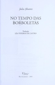 Cover of: No tempo das borboletas