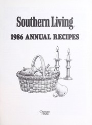 Cover of: Southern Living 1986 Annual Recipes