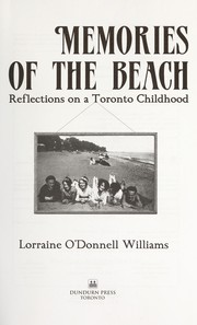 Cover of: Memories of the Beach | Lorraine O'Donnell Williams