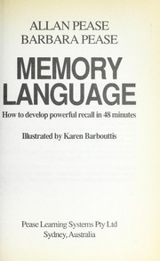 Cover of: Memory language