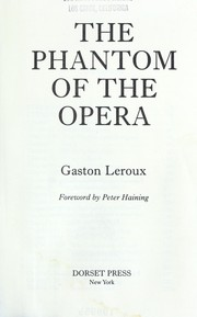 Cover of: Phantom of the opera by Gaston Leroux