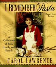 Cover of: I remember pasta