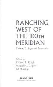 Cover of: Ranching west of the 100th meridian |