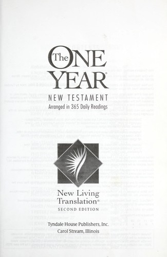 The one year New Testament by