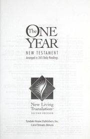 Cover of: The one year New Testament |