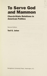 Cover of: To serve God and Mammon: church-state relations in American politics