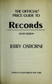 Cover of: Records, 10th Edition (Official Price Guide to Records)
