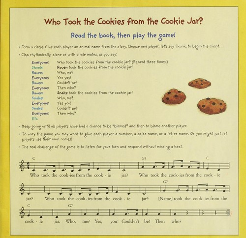 Who Took The Cookie From The Cookie Jar Book Classy Who Took The Cookies From The Cookie Jar 60 Edition Open Library