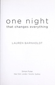 Cover of: One night that changes everything