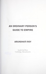 Cover of: An ordinary person's guide to empire