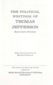 Cover of: Political writings: representative selections.