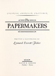 Cover of: The Papermakers